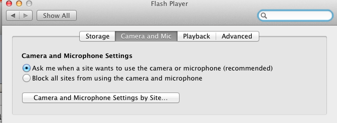 Mac Flash Player Settings Manager
