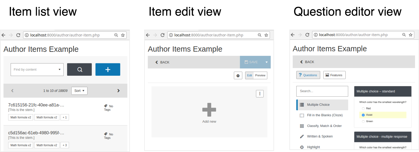 Workflow for authoring an Item