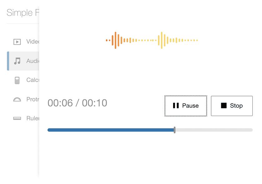 Audio recording for authors